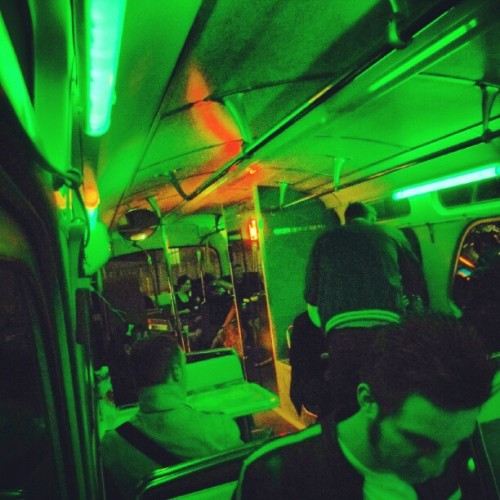 On the classic Bar-bus, on our way…… ;)     #green #bar #bus #barbus #germany #vintage #party #fifties #rockandroll #rockabilly #greenlight #alcoholicbeverages  (Taken with Instagram)
