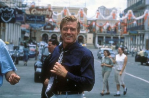 redfordancer:  Redford on the set of Havana.