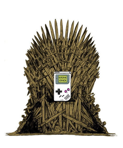 theawkwardgamer:  Game on Throne, Ver2 Art Print by Stdamz (Society6)