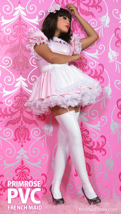 sissymaids:Sexy pink French Maid