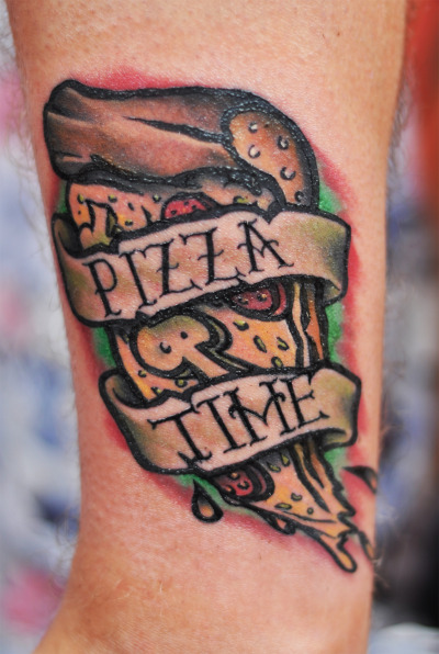 fuckyeahtattoos:  My pizza tattoo done by WUTP IcaSerbia.