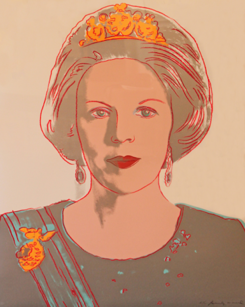 Queen Beatrix Did you know that Andy Warhol created a portrait of Queen Beatrix of the Netherlands?  The Pop artist created the work in 1985, as part of his Reigning Queens Royal Edition portfolio.
