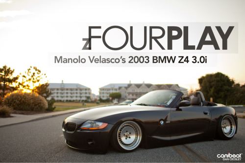 check out my photos of Manolo's Z4 on Canibeat's newest feature!  http://www.canibeat.com/2012/10/zfour-play-manolo-valescos-2003-bmw-z4-3-0i/#more-50073