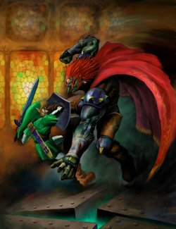 gameandgraphics:  Zelda: Ocarina of Time original art (Nintendo 64, 1998).