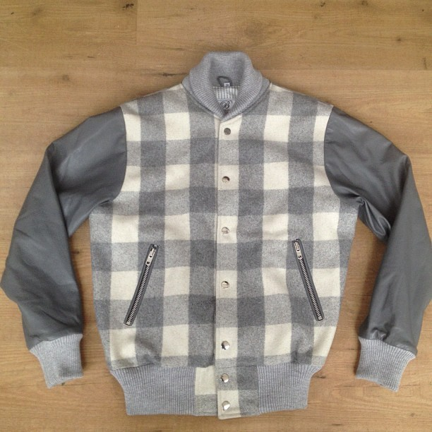 Grey plaid seersucker lined grey nappa sleeve split back panel zip pockets #canyoudobetter #houseofbilliam #bespoke £350 (Taken with Instagram at House of Billiam Studio)