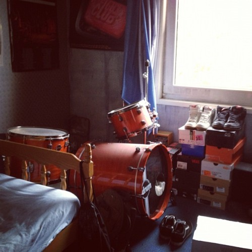#nike #shoes #drums #fightclub …I like my room (Taken with Instagram)