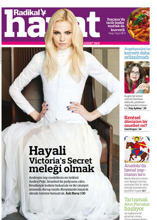 Andrej Pejic in Radikal Hayat Turkey