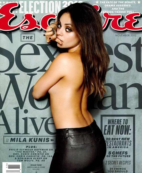 snakeyesarashikage:  Mila Kunis, Sexiest woman alive, so says Esquire.  Yup…I'll agree with that one.