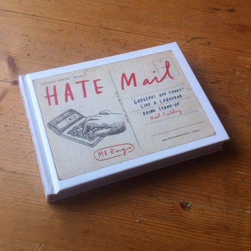 "This.  kreastiv:  theoinglis:  Mr bingo has a book out! It's full of the postcards he sent during his always hilarious Hate Mail project; ""Last year I sent a postcard to a stranger called Jonathan Hopkins. It said on it ""F*ck you Jonathan, f*ck you and f*ck your sh*t legs"". People seemed to be into it so I opened a service on my website, inviting strangers to pay me in return for an offensive postcard addressed to them (or whoever they ordered it for)."" Really enjoyed seeing the pictures he re-tweeted from the happy postcard recipients over the past few months, can't wait to see more in the book! You can order it here, only £6.99 total bargain. Mr Bingo has to be one of the funniest illustrators out there, always makes me laugh. Worth following on twitter too for the pictures he shares; @Mr_Bingo. And if you have time watch some videos of him doing talks; 16 rejected ideas for a talk Mr Bingo at BLAB Mr Bingo at Glug I Made this, Mr Bingo  Mr Bingo for always and ever"