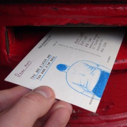 "theoinglis:  Mr bingo has a book out! It's full of the postcards he sent during his always hilarious Hate Mail project; ""Last year I sent a postcard to a stranger called Jonathan Hopkins. It said on it ""F*ck you Jonathan, f*ck you and f*ck your sh*t legs"". People seemed to be into it so I opened a service on my website, inviting strangers to pay me in return for an offensive postcard addressed to them (or whoever they ordered it for)."" Really enjoyed seeing the pictures he re-tweeted from the happy postcard recipients over the past few months, can't wait to see more in the book! You can order it here, only £6.99 total bargain. Mr Bingo has to be one of the funniest illustrators out there, always makes me laugh. Worth following on twitter too for the pictures he shares; @Mr_Bingo. And if you have time watch some videos of him doing talks; 16 rejected ideas for a talk Mr Bingo at BLAB Mr Bingo at Glug I Made this, Mr Bingo"