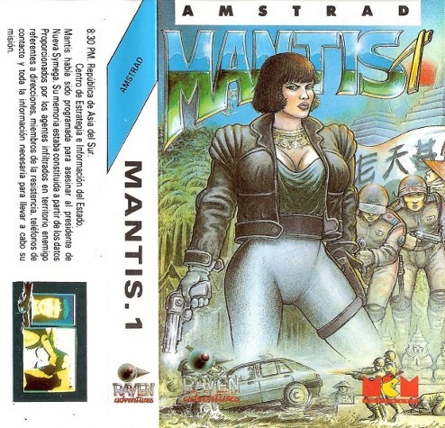 notablegamebox:  Mantis 1 (1990), an illustrated text adventure game by MCM Software for the Amstrad CPC and ZX Spectrum.