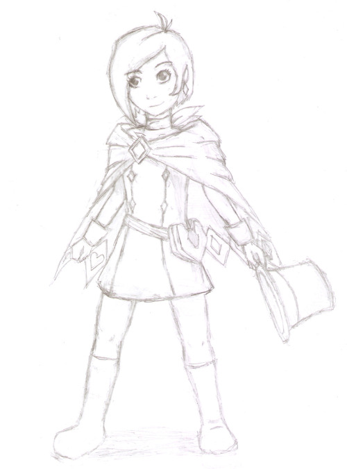 I made a Trucy! Although it doesn't exactly look like her, and her size isn't quite right. Let's just assume it's an older Trucy… I might color it when I get the time. I'm still hungover from not having anymore Ace Attorney games left to play so I keep doing fanarts… hahaha.