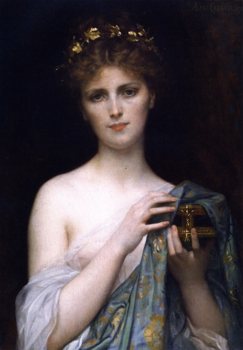 swedishsopranofish:  pre-raphaelisme:  Christina Nilsson as Pandora by Alexandre Cabanel  The original prying Pandora.