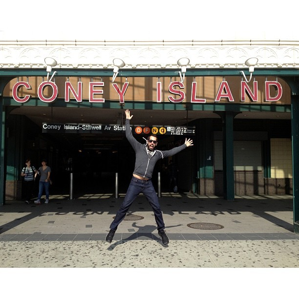 Saturday was the perfect adventure day. Taken with Instagram at Coney Island Beach & Boardwalk