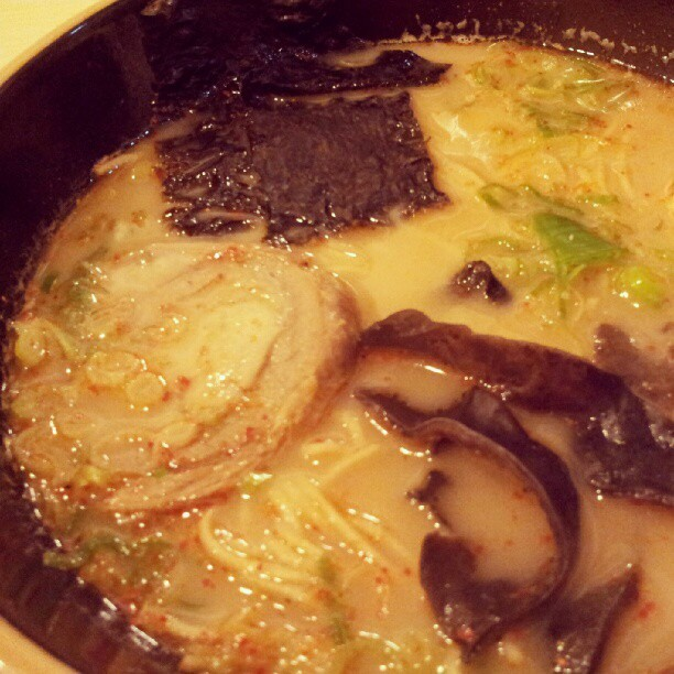 tonkotsu #ramen with habanero chili (Taken with Instagram at Wabito-Ya Ramen Fusion)