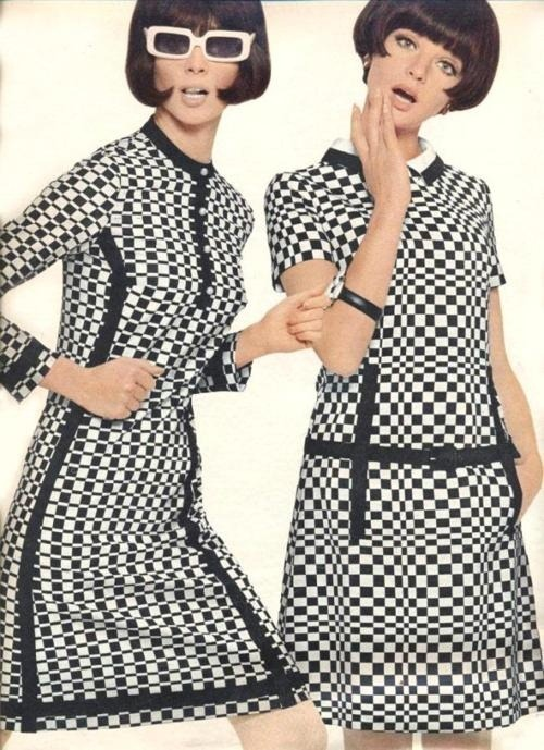 theswinginsixties:  1960s mod dress fashions.