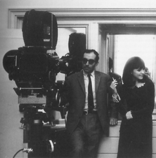Jean-Luc Godard and Anna Karina on the set of Alphaville (1965).