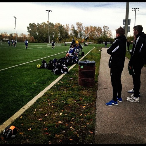 Field marshals & coaches freeze on Friday night @ Nike Cup. (Taken with Instagram)