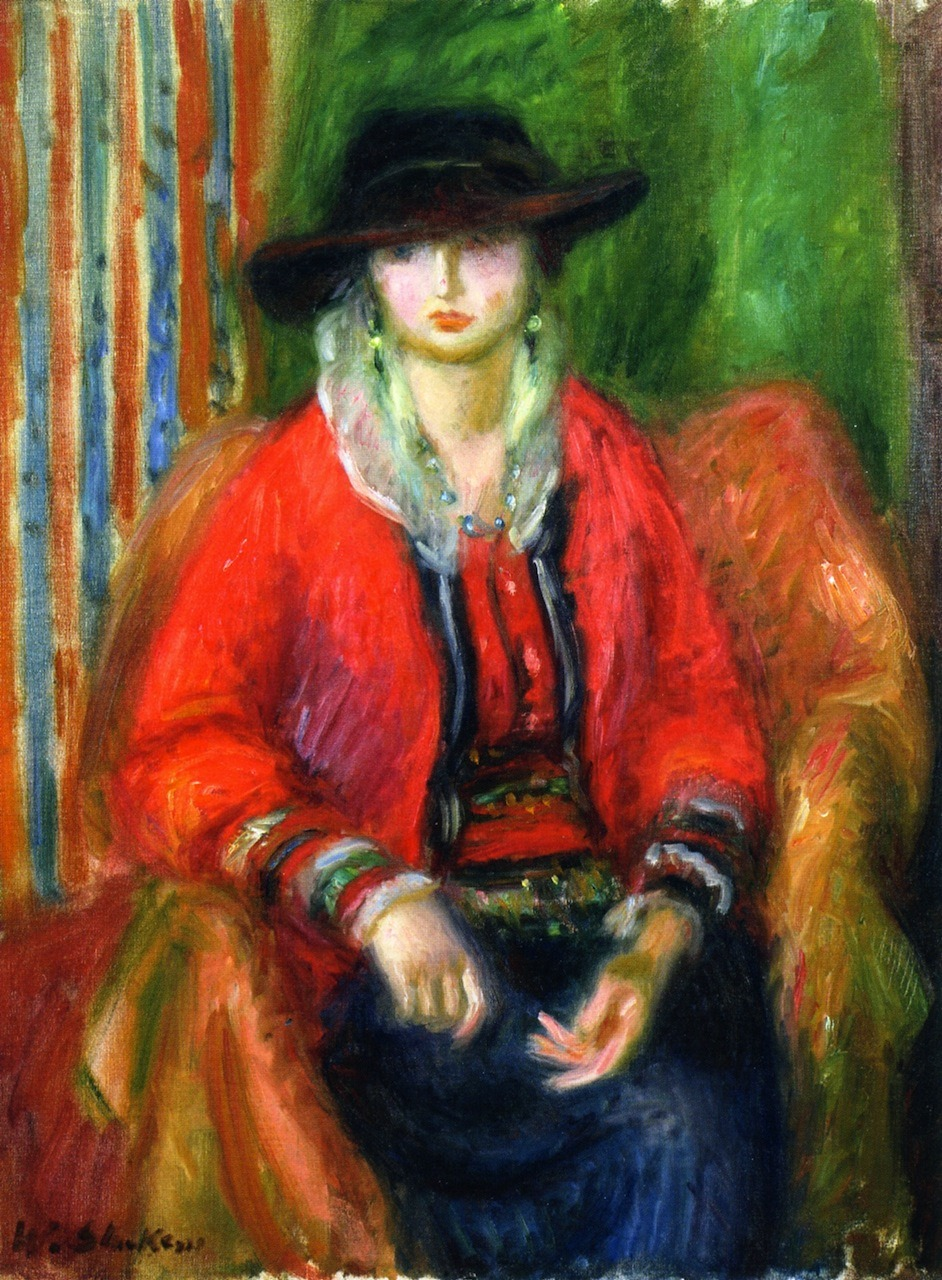 William Glackens (American, 1870-1938) - Woman in Red Jacket