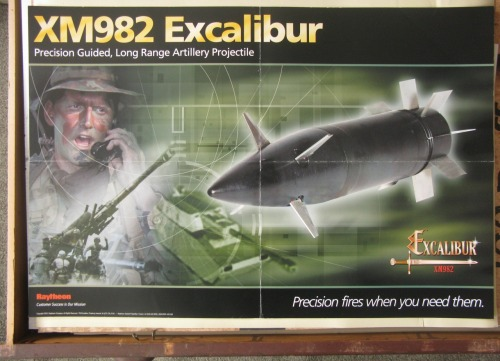 Terrible Poster Week II. XM982 Excalibur, 2003. What, no design credit on this one?