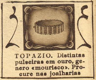 "O Século Ilustrado, March 16, 1946 - 13a on Flickr.  ""Topazio. Distinguished bracelets in gold, in an 'arab' style. Look for them in jewellery stores."""