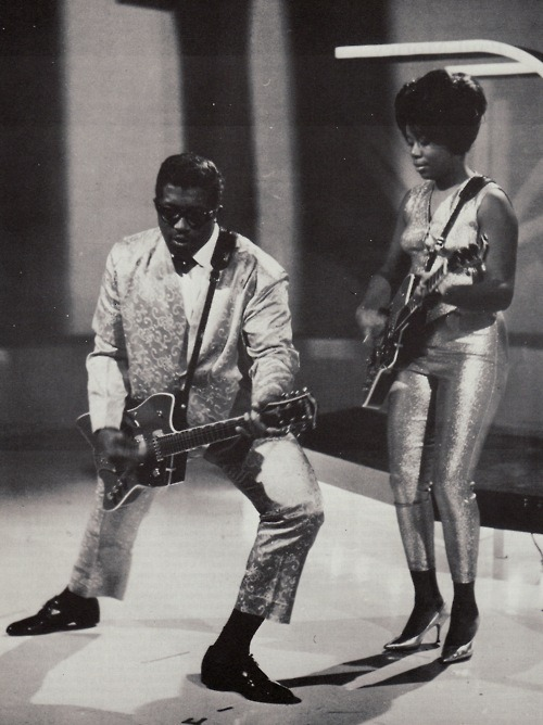 Bo Diddley was just so cool.