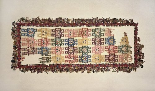 """The Paracas Textile"" Nazca, 100-300 AD The Brooklyn Museum"