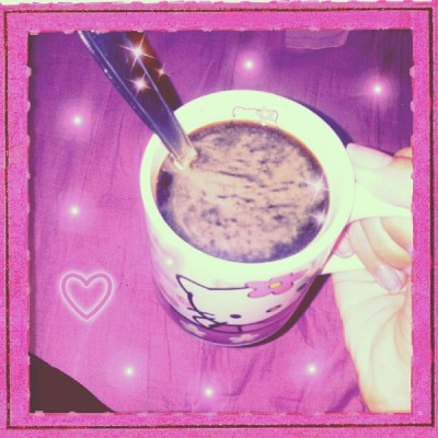 the-pink-princess-x:  ~_ Hello Kitty coffee time * <3 _~ #Personal #HK #HelloKitty #Pink  (Taken with Instagram)