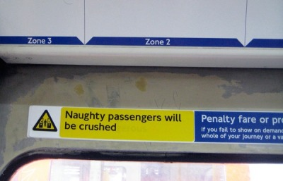 Casual Trolling on the London Underground.