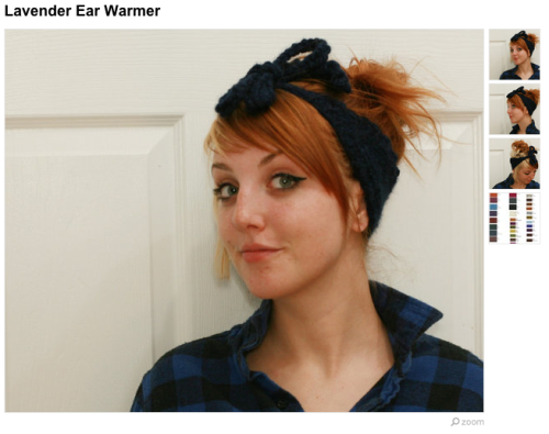 It's the perfect time of year for earwarmers! Lavender Ear Warmer