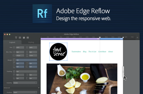 Edge Reflow - Adobe & HTML Looks good for designing responsive prototype…