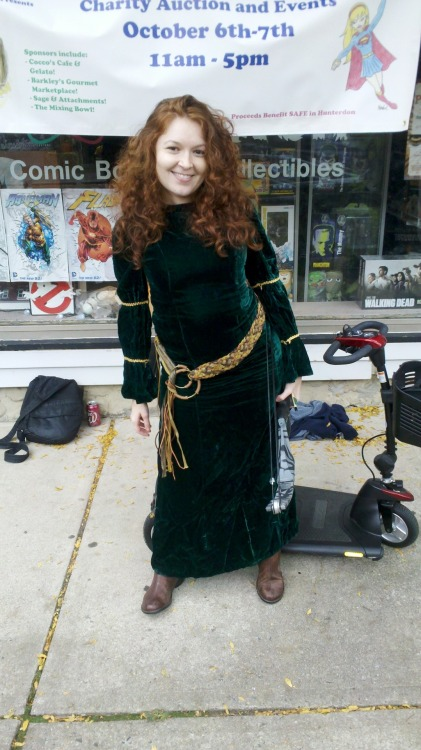My Merida from this past weekend's domestic violence fundraiser in New Jersey, Superhero Weekend. Look for me in this at NYCC this week!