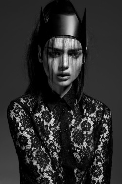 photography Black and White fashion lace beautiful gorgeous Model dark portrait f Alternative dark fashion lina tesch strangelycompelling Paulina Gier Dark Warrior