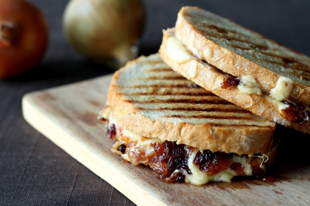 cheese and caramelized onion grilled cheese