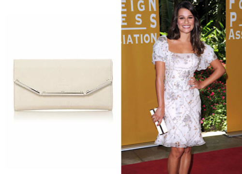 This white clutch's simple cream color top with silver edging goes with every outfit.  Fiorelli Othello Flapover Clutch £45.00
