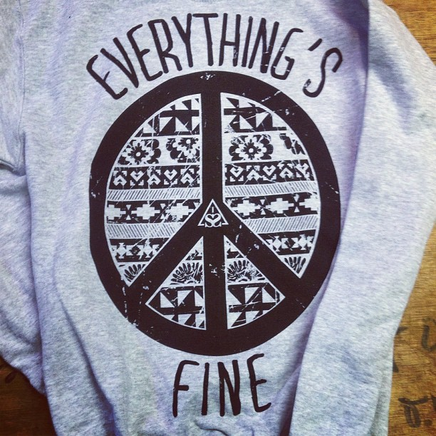 helloimstephen:  New Everything's Fine pullover, also available on tour in the US this fall. (Taken with Instagram)