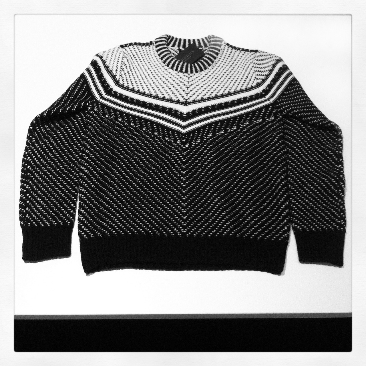 In need of a Monday boost? This handsome patterned knit by BURBERRY PRORSUM should do the trick. BUY it at: http://bit.ly/UNwkRd
