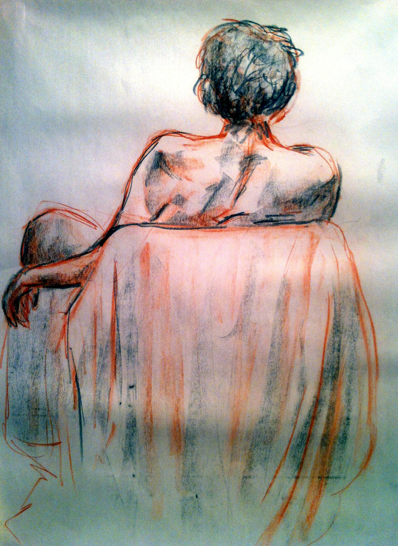 Conté figure drawing