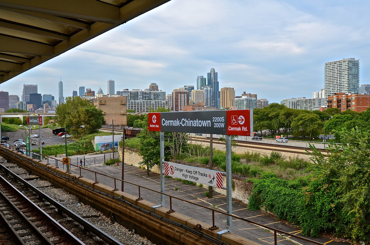 Cermak-Chinatown station. Chicago, IL