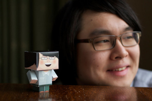 laughingsquid:  Foldable.Me, Cardboard Sidekicks That Look Like You or Your Friends
