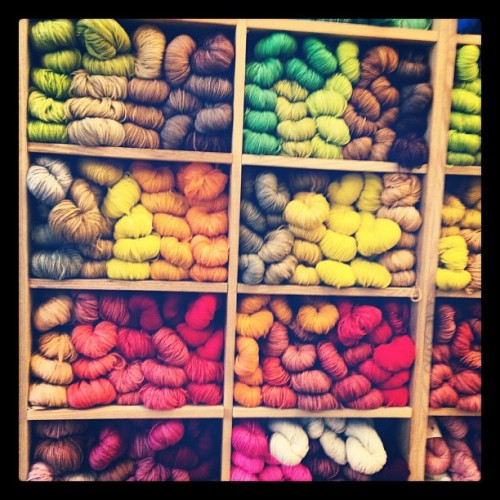Yarns and yarns.  (Taken with Instagram at Purl Soho)