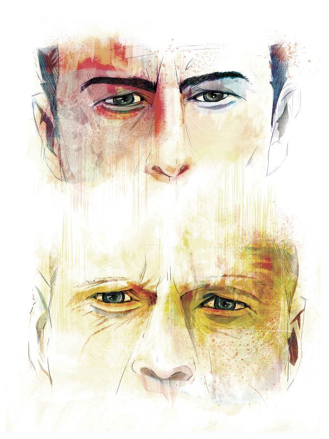 mariebergeron:  Looper fan art. Print available here  PURCHASE THIS FOR ME!