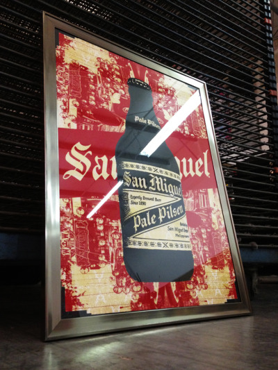 San Miguel Beer/Pale Pilsen - Philippines3 color screenprint Screens 'N' SudsBlunt Graffix http://bluntgraffix.com/ http://www.screensnsuds.com/