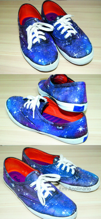 Galaxy shoes by me! <3 https://www.facebook.com/kisski.tees