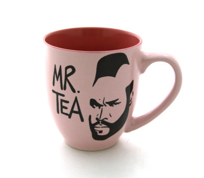wickedclothes:  Mr.Tea Mug I pity the fool that doesn't love Mr T! Or tea, for that matter! Sold on Etsy.