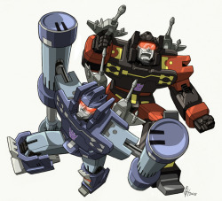 wachtelspinat:  kai recently reminded me of HOW awesome transformers g1 was and is and i haven't watched this show for 4 or 5 years but i did a lot of fanart back then and although this lacks a lot like a decent background and perspective and a point at all i still like it… a lot ;_; some reason for that might be that i can't draw like this anymore and i don't know why