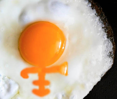 For some reason I was thinking about Prince making eggs for breakfast. This is probably what they would look like.
