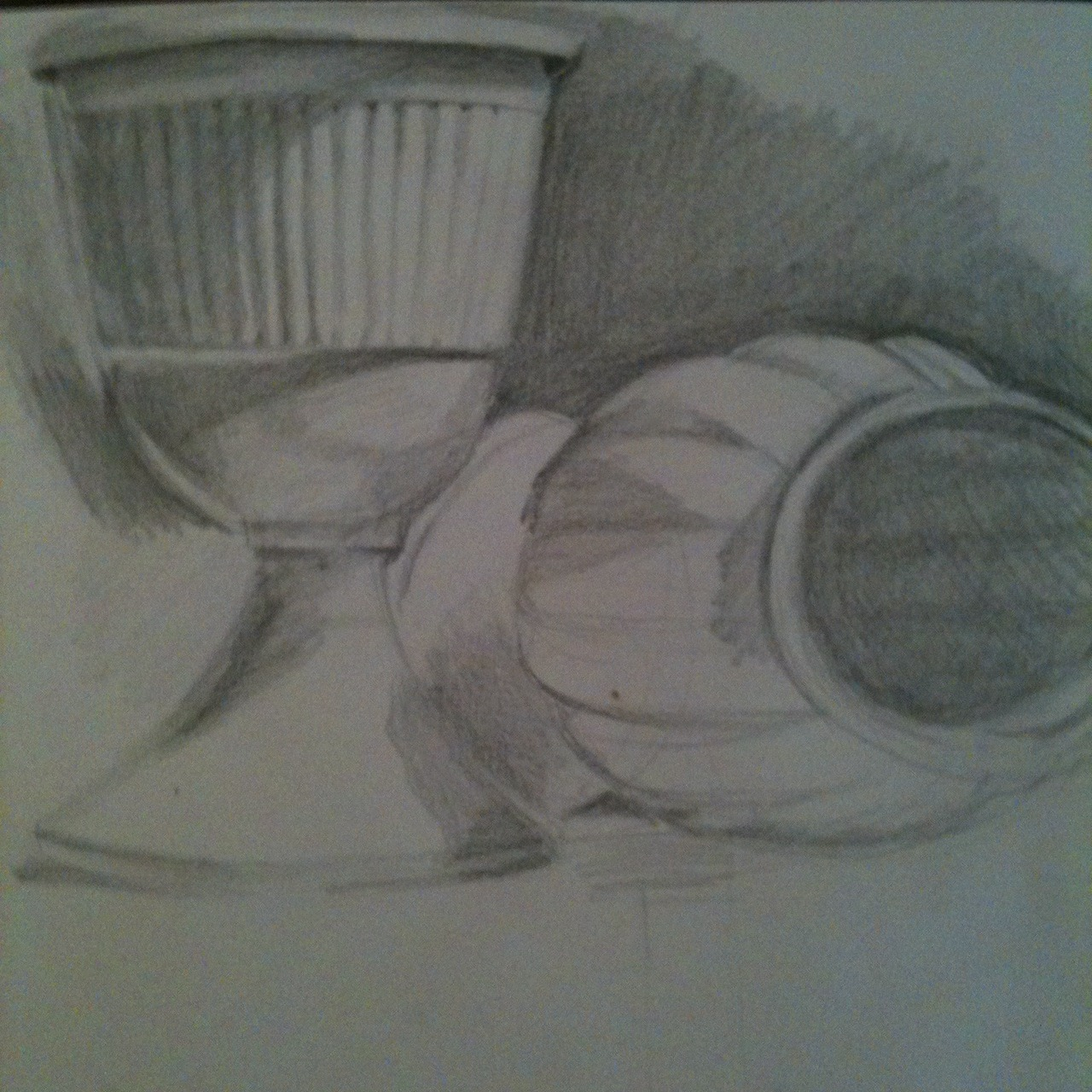 Sketch from observation drawing.  I kind of like it!