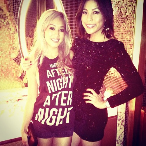 Soon to be #cousins. @instathao #lbd #sequins #vegas #xs #calvinharris #motelrocks (Taken with Instagram)