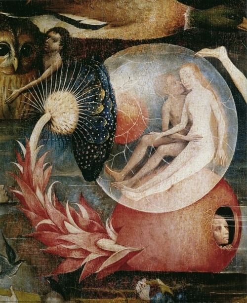 flesh-of-burning-love:  Hieronymus Bosch, Detail from Garden of Earthly Delights